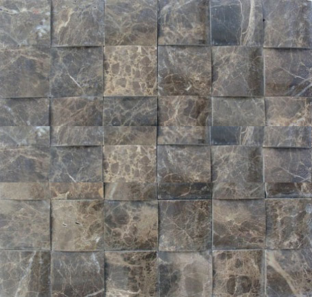 3D dark emperador marble mosaic
