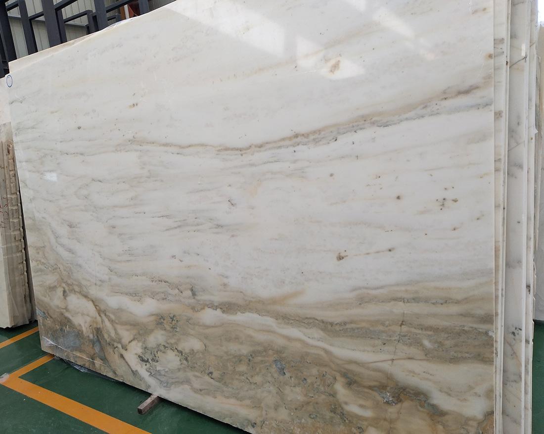 Landscape painting white marble China White