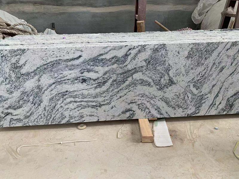 Polished Granite Viscount White Juparana Gray Granite Small Slap