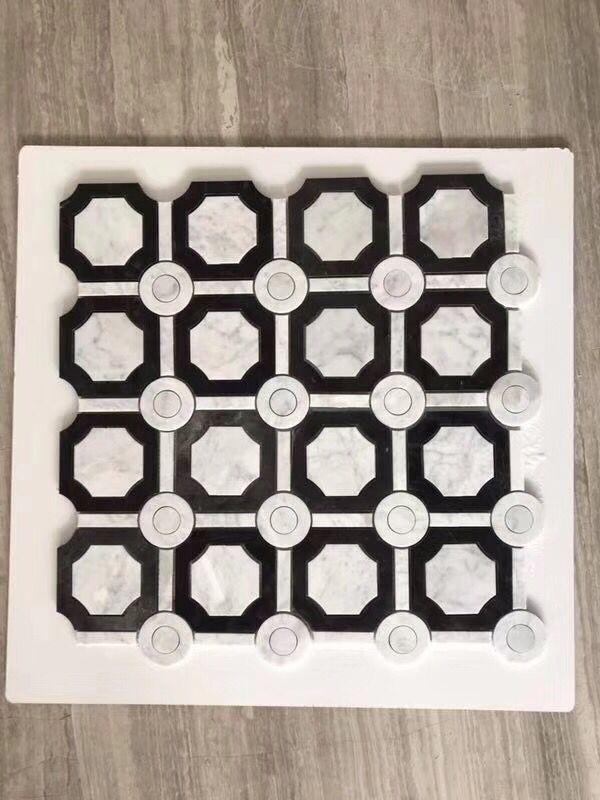 Hexagonal Stone Marble Mosaic 06