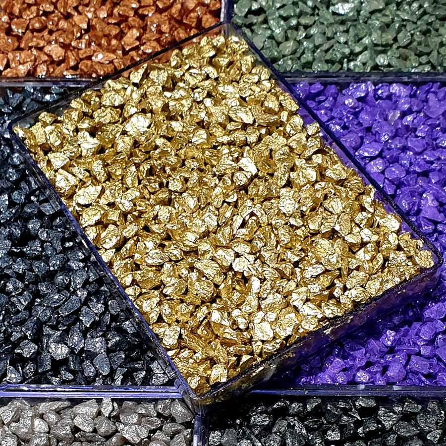Colored Nano Metallic Quartz Stone Carpet
