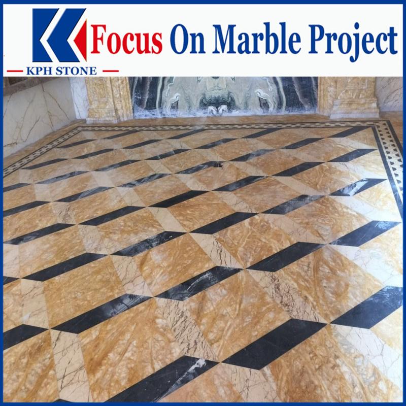 Dubai Golden Marble flooring tiles for hotel