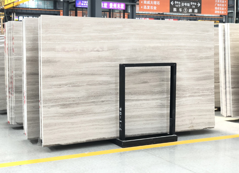 Wooden White Polished Marble Slabs