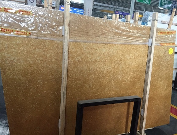 High Polished Emperor Gold Marble Slabs