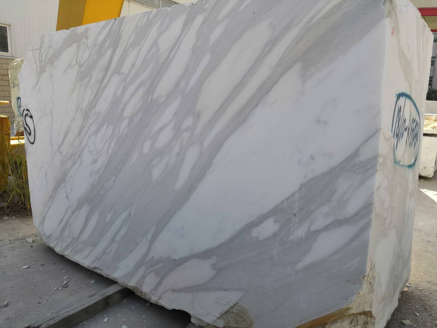 Big Calacatta White Marble Blocks