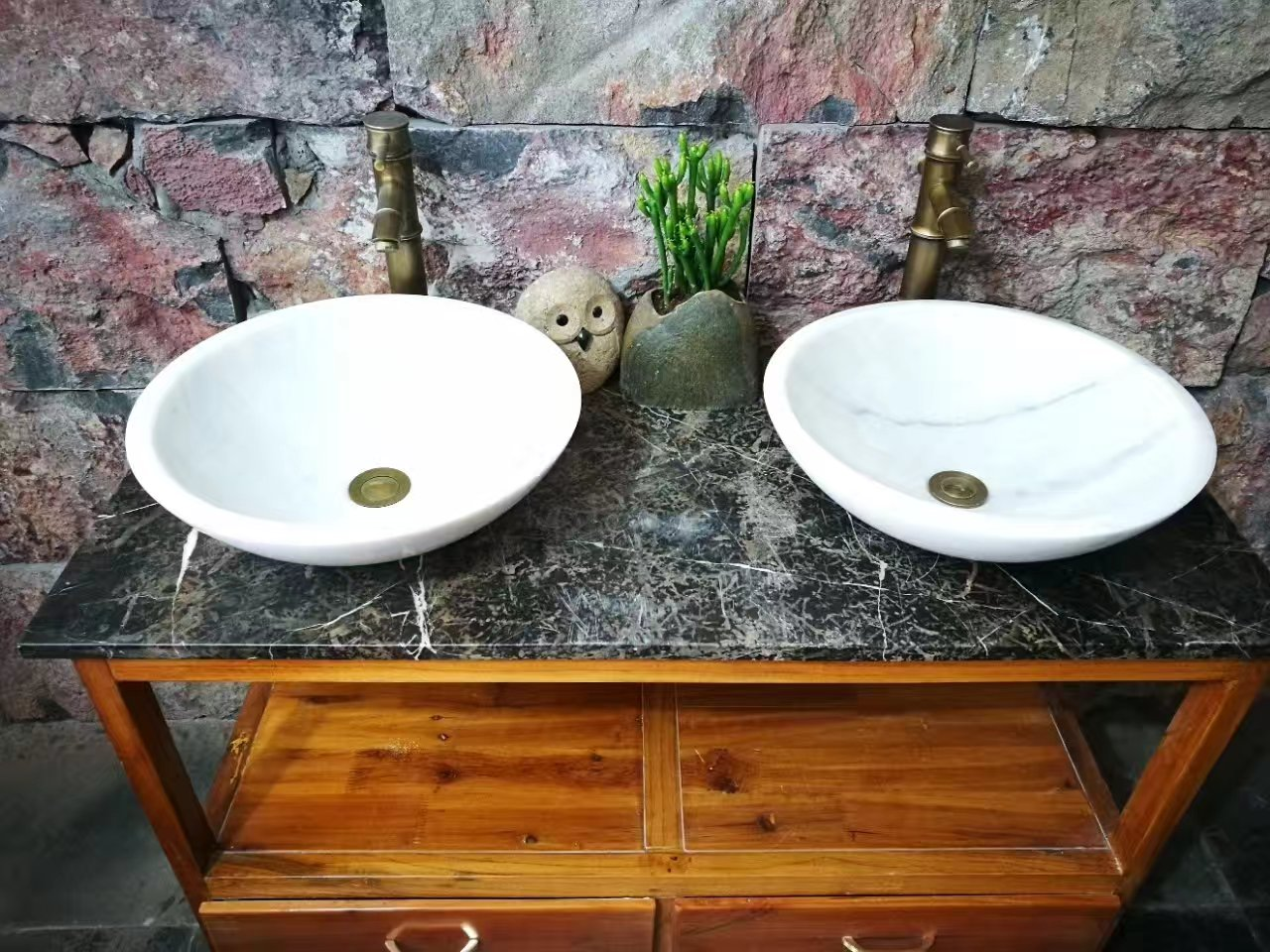 White marble basin