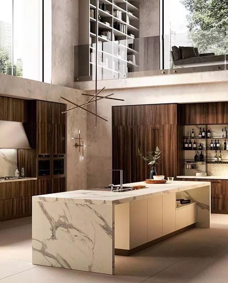 Marmo Calacatta Blanco Marble Kitchen Island Tops
