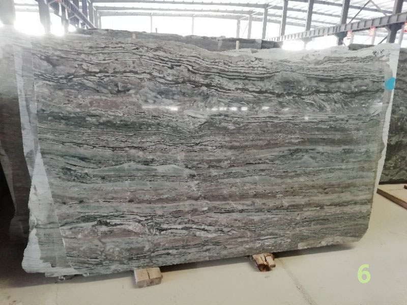 Green wooden marble