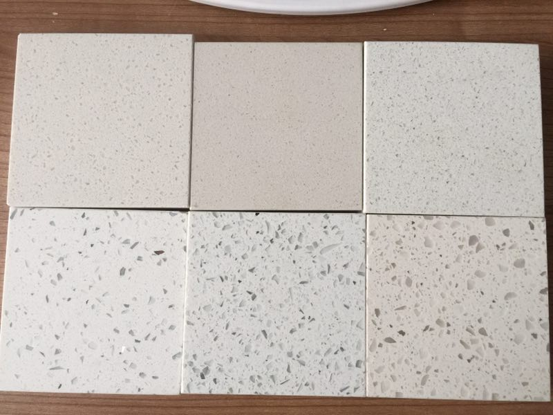 Artificial crystal white quartz stone