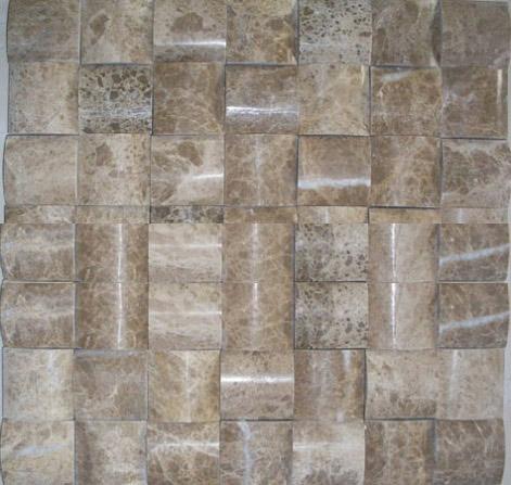 3D light emperador marble mosaic