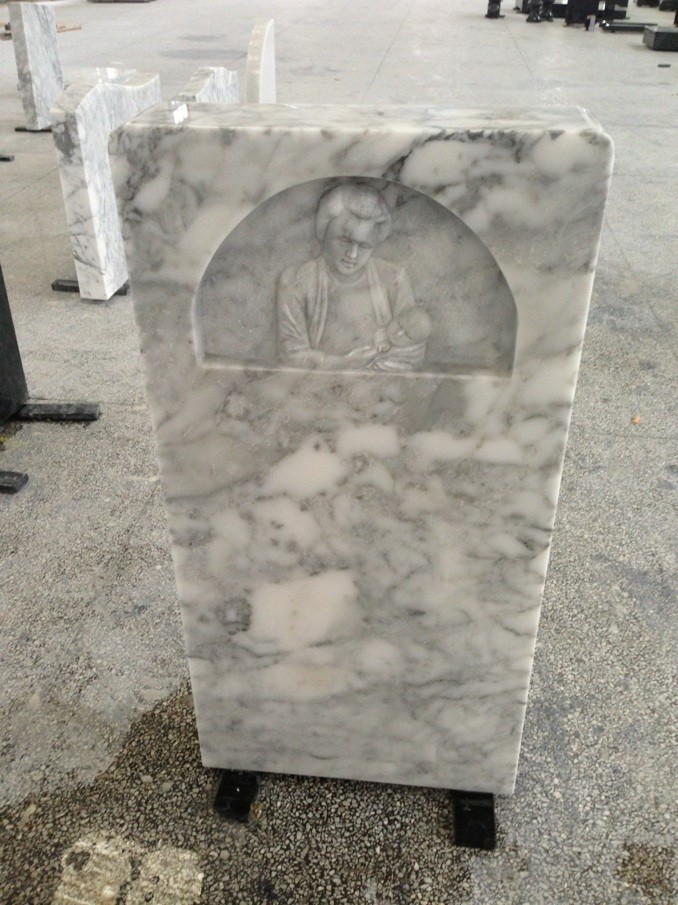Marble tombstone  gray marble tombstone