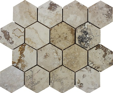 Tiramisu Hexagon Mosaic
