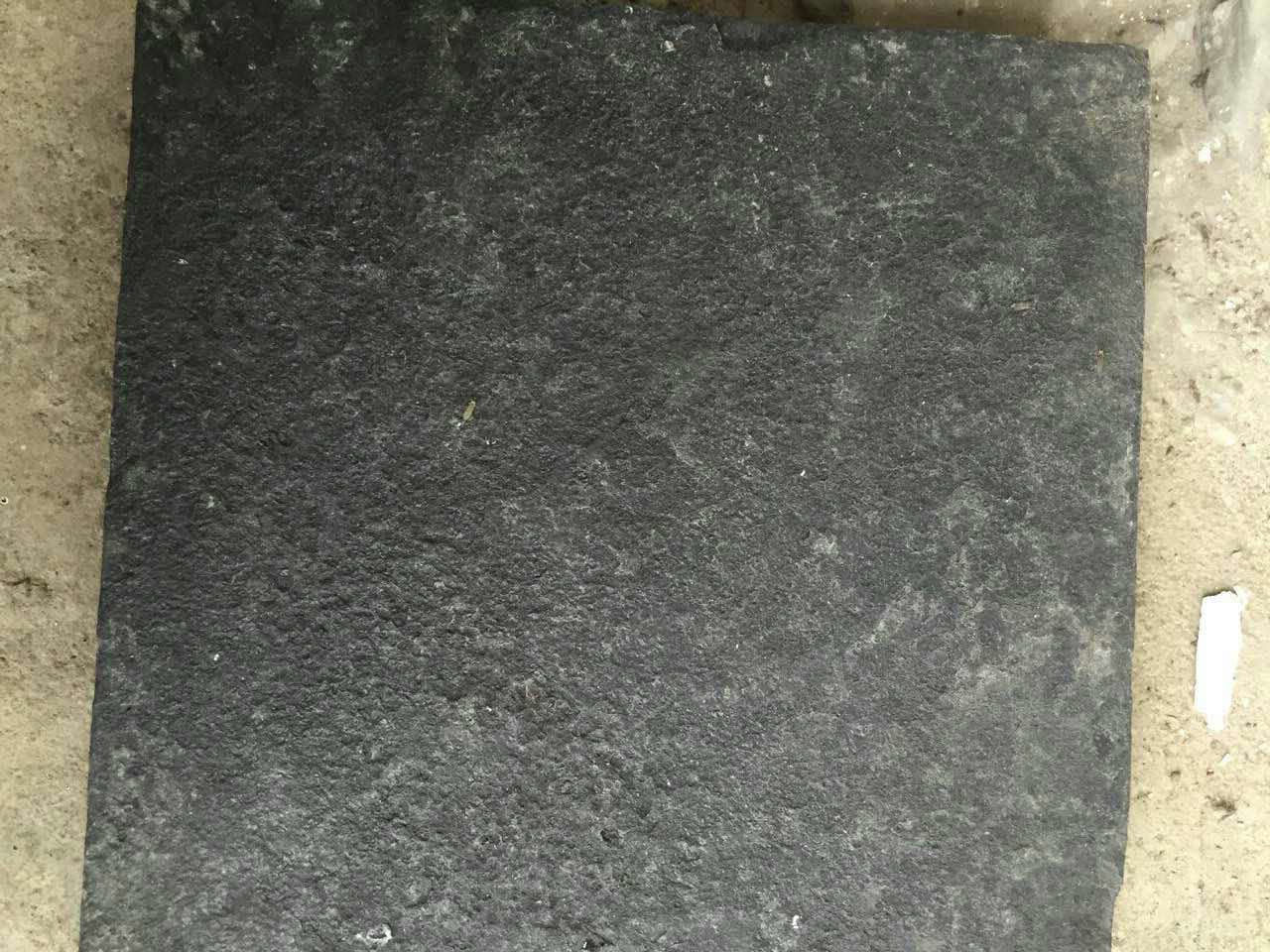 G778 Black Basalt Tiles with Flamed surface