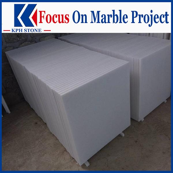 Thassos Marion Semi White Marble Tile For Delano Las Vegas