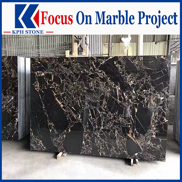 Afghanistan Black Gold nero Portoro black Marble For Hotel