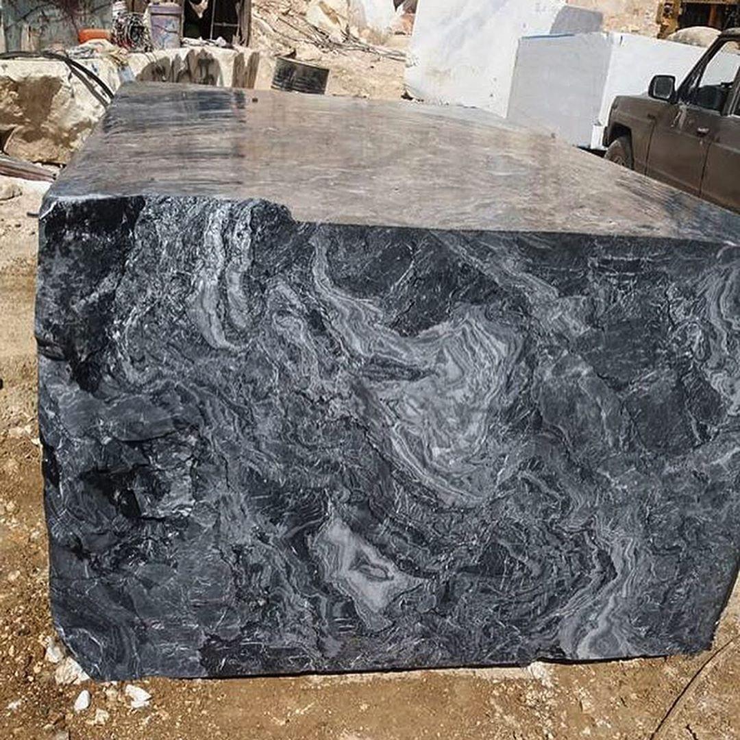 Dream Black Marble Natural Stone Blocks