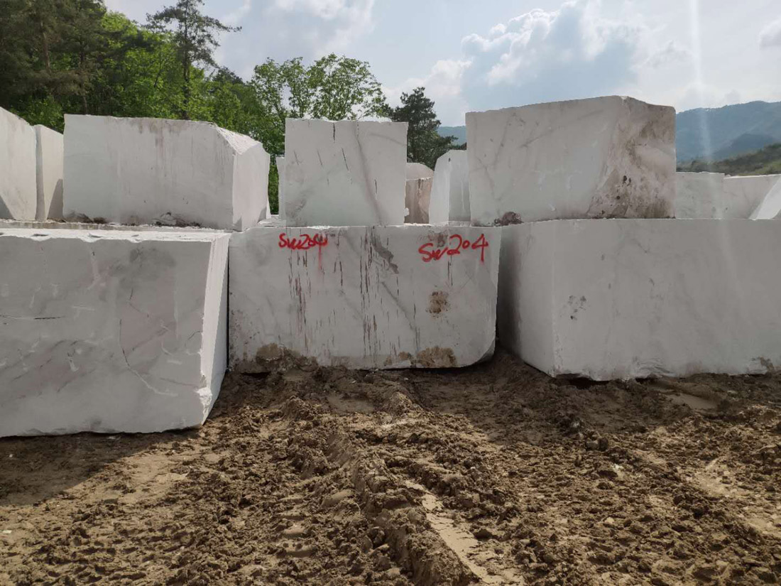 Own Quarry North Pearl White Marble Blocks