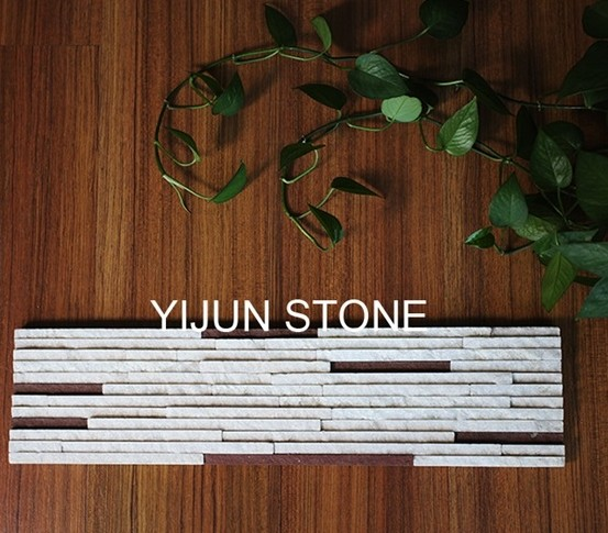 Factory Direct Sale Crystal White Quartzite Culture Stone Wall Cladding Wall Panel