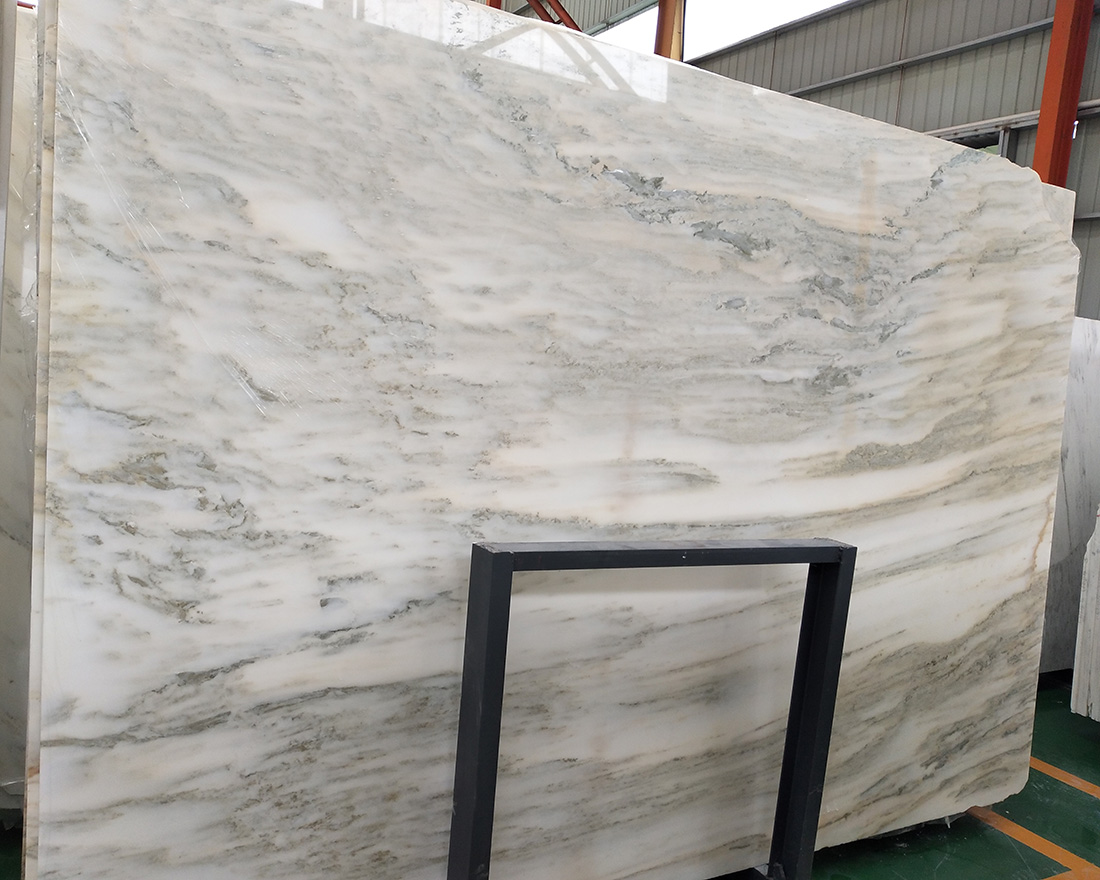 Landscape painting white marble China White