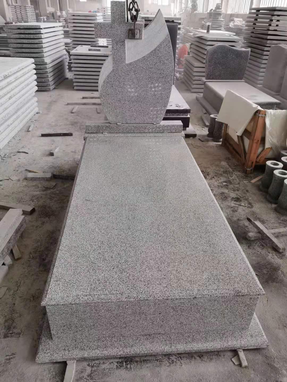 Grey granite G603 tombstone