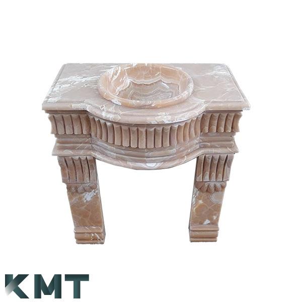 Orange Onyx Pedestal Sink  Stone Basin S-15008