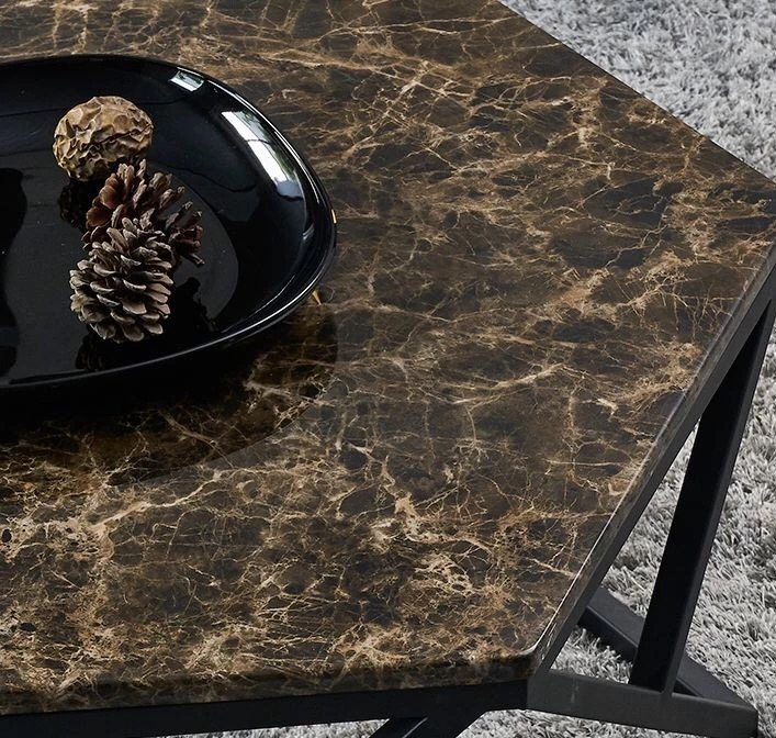Dark Emperador Marble Table Coffee Top Countertops