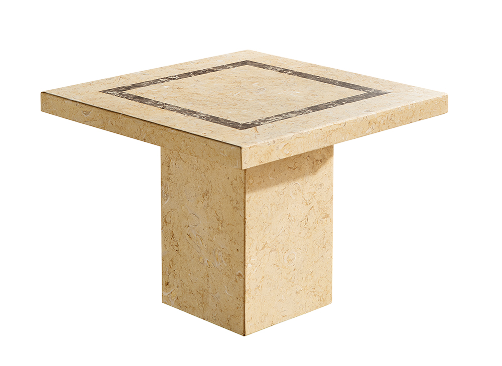 Beige Marble Whole Stone Table