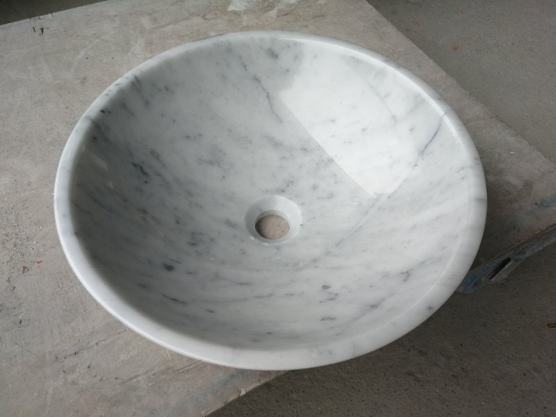 White Round Marble Basin &Sinks