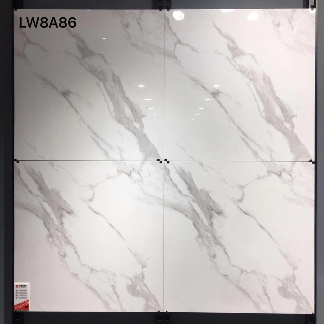 Calacatta White Marble Porcelain Tiles Glazed Porcelain Floor Tiles Item 8A86