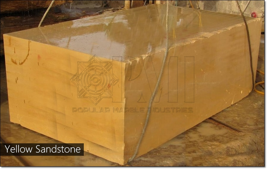 Pakistan Yellow Natural Sandstone Blocks
