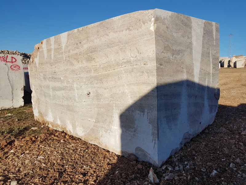Silver Travertine Block Travertine Block Travertine block