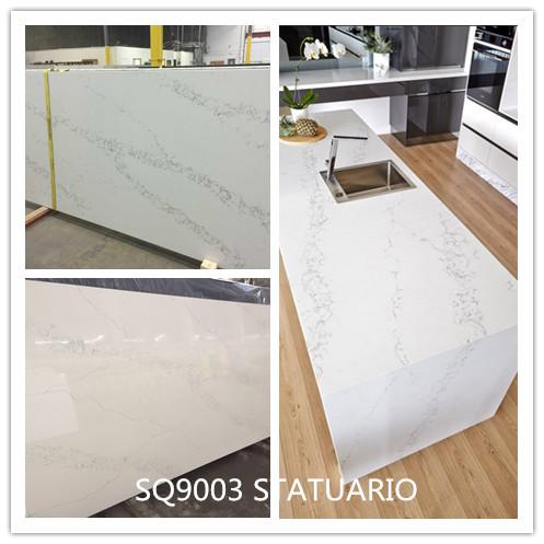 alacatta White STATUARIO Quartz Quartz Stone Tops Artificial Stone Slabs Calacatta Quartz Stone