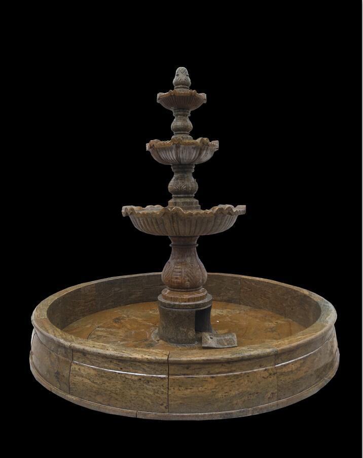 Hand carved marble stone fountain garden fountain