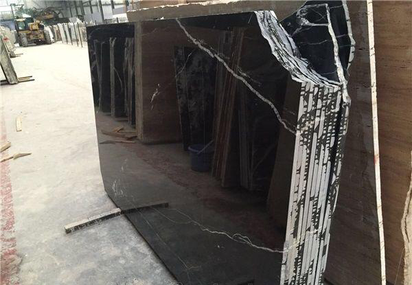 Black Marquina Marble Slabs Polished