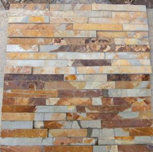 rustic copper slate rock panels for wall cldding