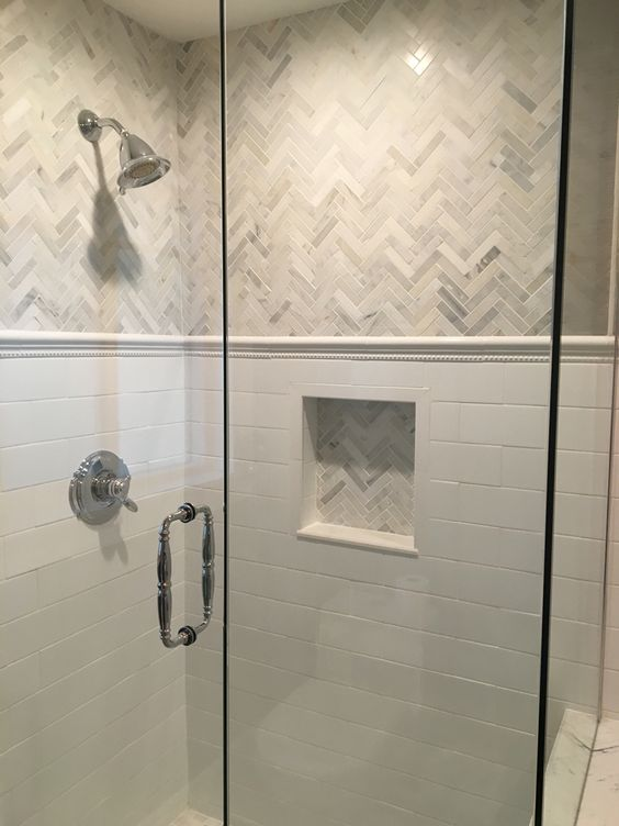 White mosaic for bathroom wall