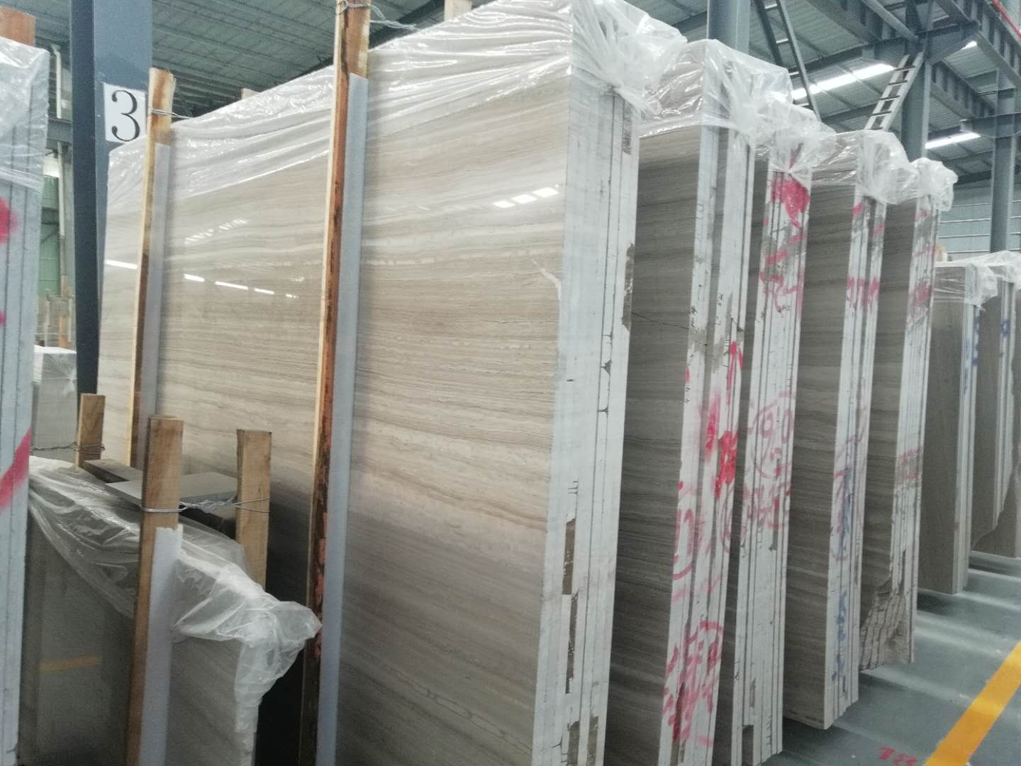 Grey Wooden Grain Marble Natural Marble Slabs