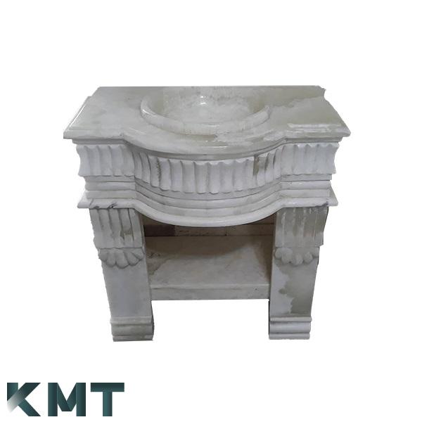 Green Onyx Pedestal Sink  Stone Basin S-15009