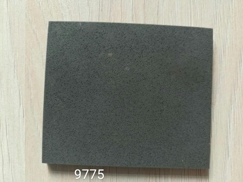 Pure dark gray quartz stone slabs