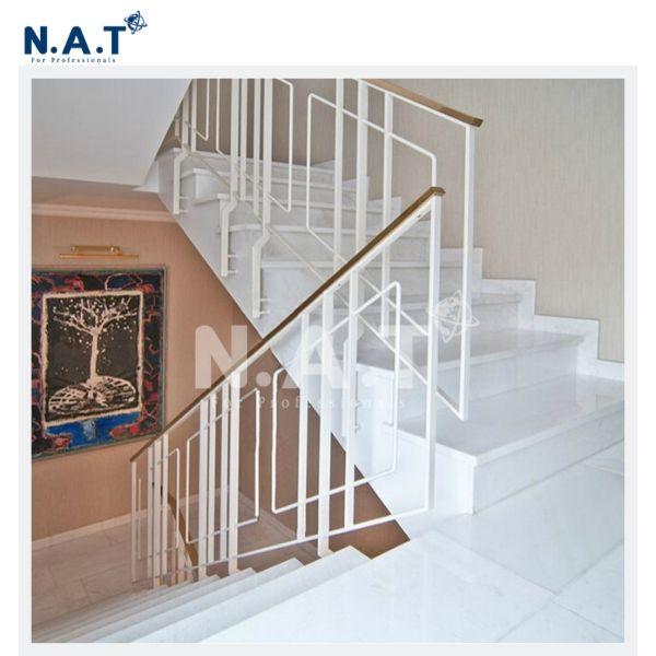 Vietnam white marble stair- pure white stair