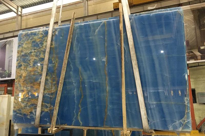 Blue onyx slab