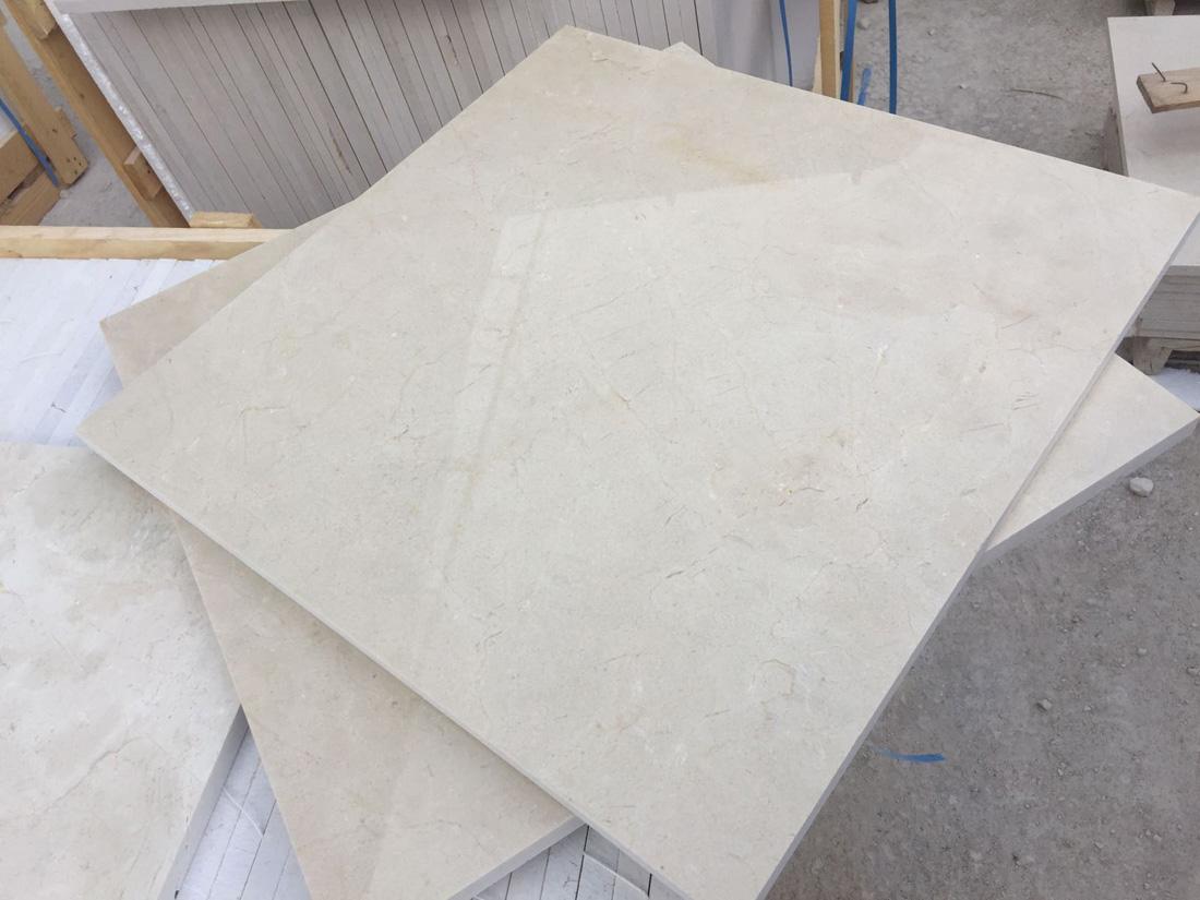 Crema Marfil Polished Marble Tiles