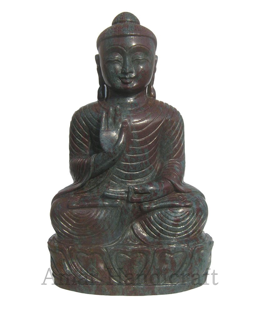 Corundum Ruby Buddha wtih good carving