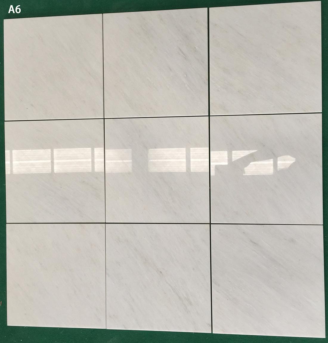 Marble tiles White