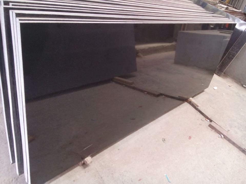 Black Absolute Granite Polished Slabs