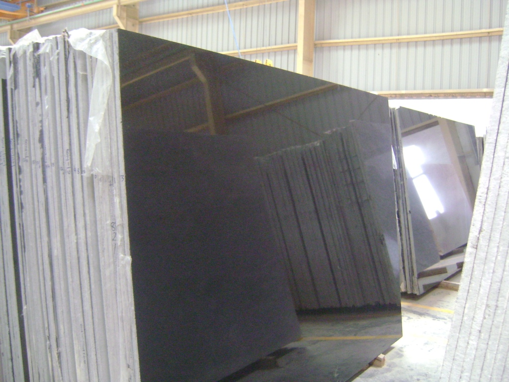 Absolute Black Granite Polished Slabs