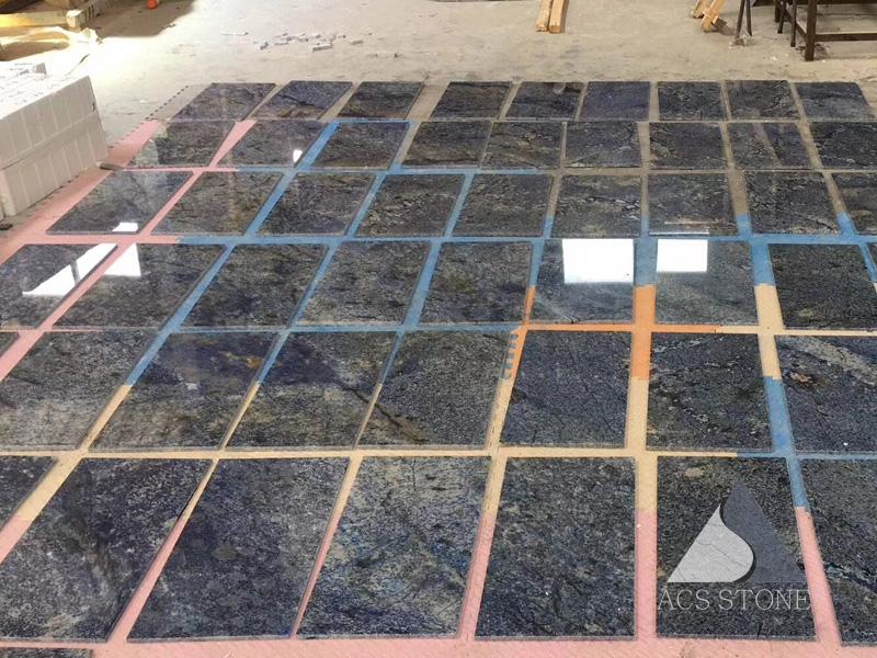 Blue Granite Polished Tiles for Flooring