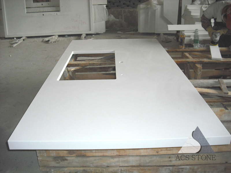 Swiss White Quartz Island Top