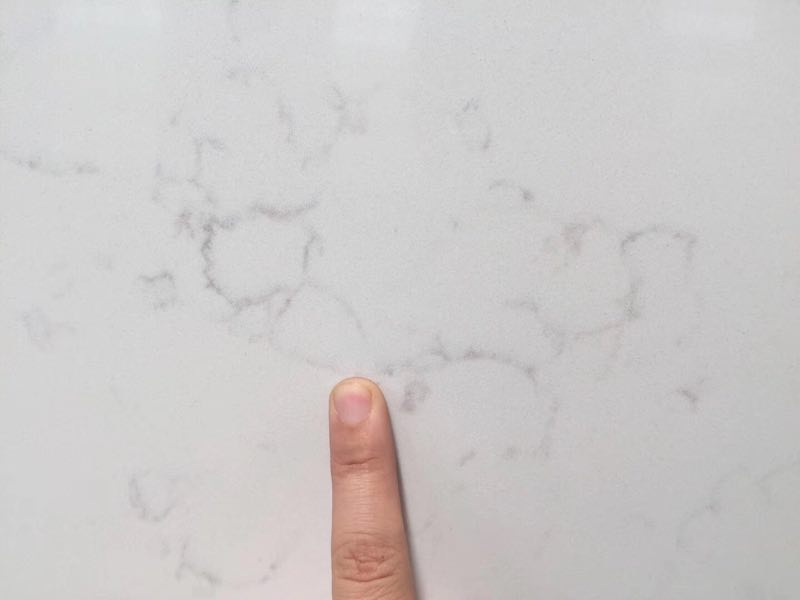 New light carrara white color artificial quartz stone