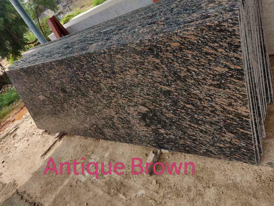 Antique Brown Granite Slabs Polished Brown Granite Slabs